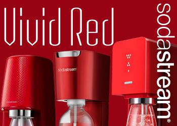 自宅で出来たて生炭酸を楽しめるソーダストリーム「Vivid Red」赤ではじめるお得なキャンペーンを実施中