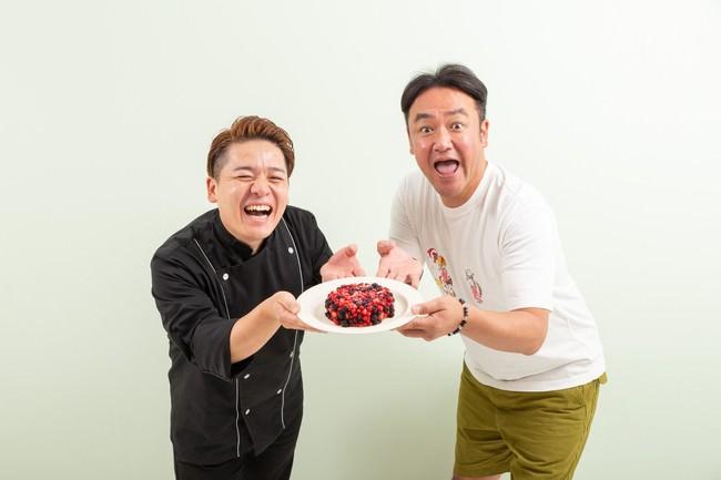 パティシエ・加藤幸喜氏と芸人兼mamireオーナー・たむらけんじ氏