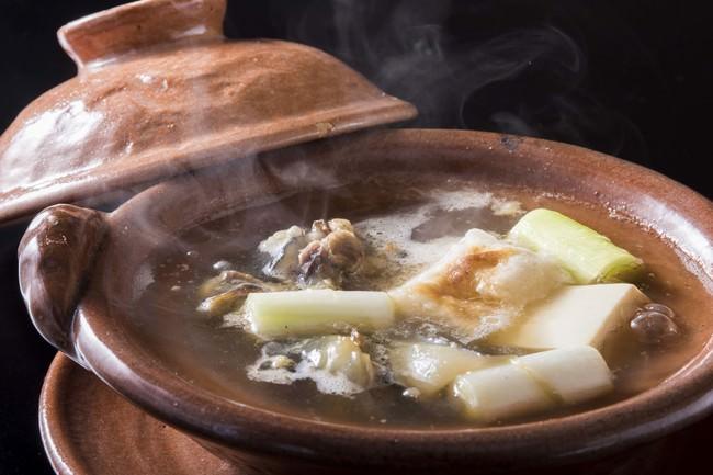 たん熊北店名物、丸鍋(すっぽん鍋)