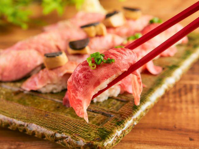 肉寿司食べ放題の大盤振る舞い!
