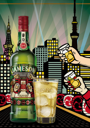 No.1*アイリッシュウイスキー「ジェムソン」の日本限定ボトル第2弾『ジェムソン 東京 リミテッド』9月7日(月)から数量限定発売