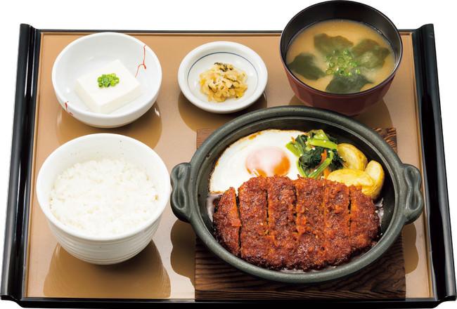 味噌かつ煮定食490円(税込)