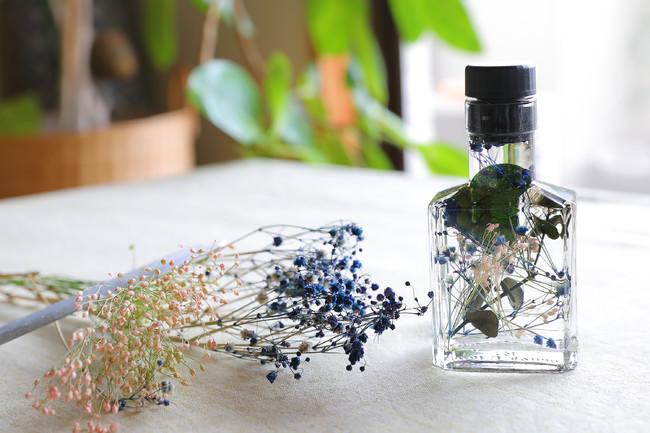 バルサミコの空き瓶でハーバリウム