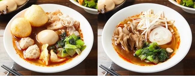 左:デラックススープ春雨 右:スープ春雨ベジタブル