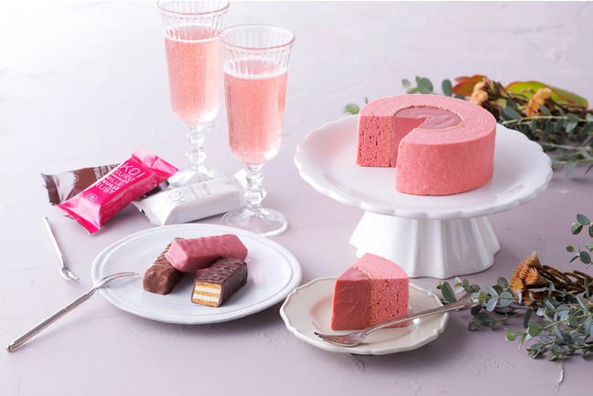 (左から)恋するチョコレート ミルフィーユ アソート、恋するチョコレート ショコラバウムクーヘン(ルビー)
