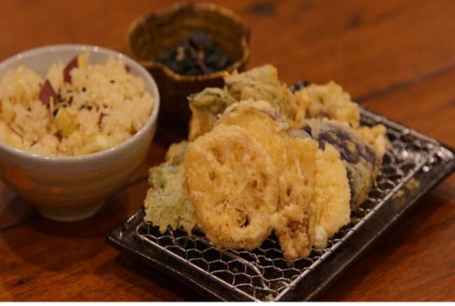 彩菜いしかわ御膳   だし香るホクホク金時ごはんと地物食材のサクサク天ぷら 1180円