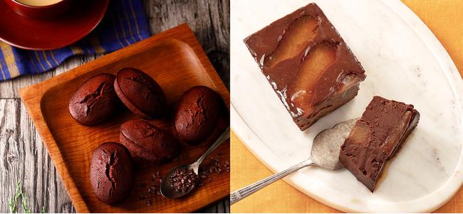 左)<チーズガーデン>チョコレートフィナンシェ ¥2,000/右)<りんごとバター。>アップルショコラテリーヌ ¥1,404