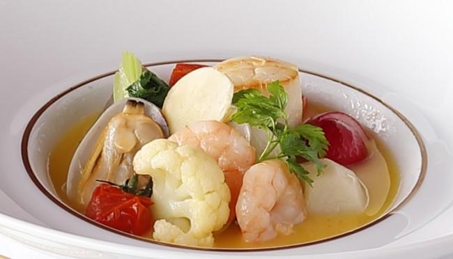 冬野菜と海の幸のエチュベ ジンジャーの香り