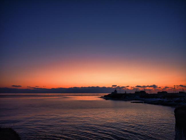 根室 納沙布岬の夜明け