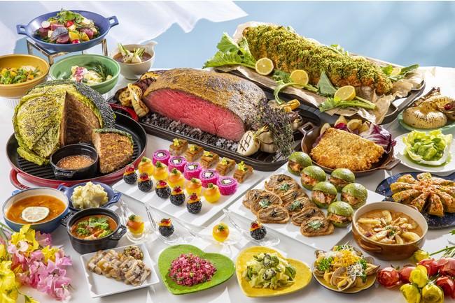 ヒルトン名古屋 スプリングランチ&ディナービュッフェ「モツX春野菜」の国際色豊かなメニューが登場 心も身体も元気になる最強コンビの春のビュッフェ