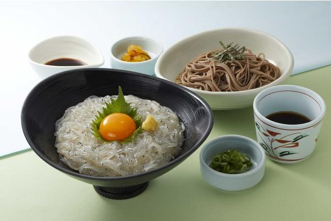 「駿河湾産 生しらす丼膳」 1,399円(税込1,538円)