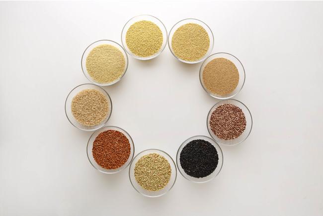 国産八穀米「Jシリアル」あわ、いなきび、たかきび、黒米(玄米)、アマランサス、赤米(玄米)、緑米(玄米)、ひえ