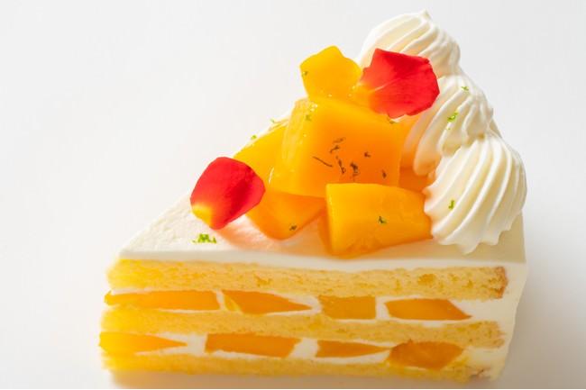 完熟マンゴーがたっぷり ビタミンカラーも美しい極上マンゴーショートケーキ