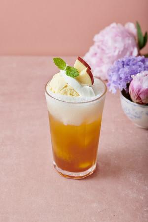 りんごのクリームティーソーダ