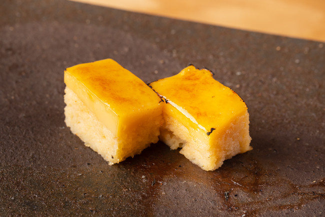 寿司屋の甘い玉子焼き