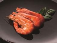 <焼き海老> 大ぶりのブラックタイガーを使った豪華な「焼き海老」は和風の味付けに
