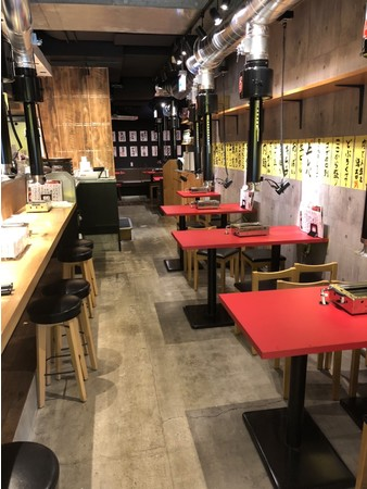焼肉ここから札幌すすきの店 店内