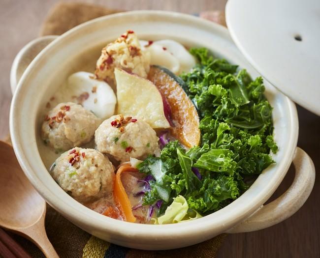 鶏団子と生姜のSalad鍋