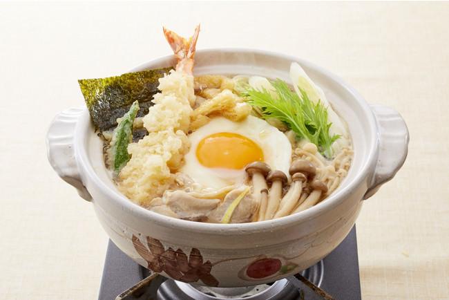 大海老天鍋焼きうどん 1,208円