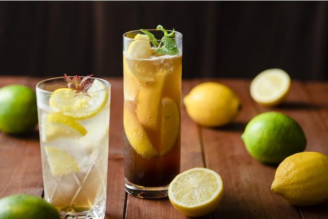 【左】Erable et Citron ~もみじ~  【右】まるごとレモンティーカクテル (イメージ)