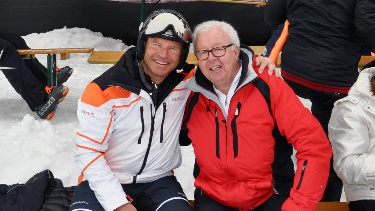 Alte Bekannte: Ski-Legende Marc Girardelli und Gourmino-Express-Autor Wolfgang Ritter