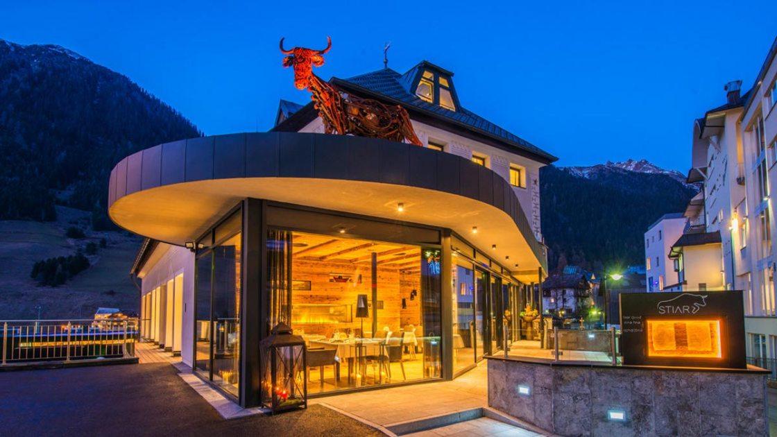 "Gourmet-Restaurant ""Stiar"" im Hotel Silvretta. Foto Silvretta"
