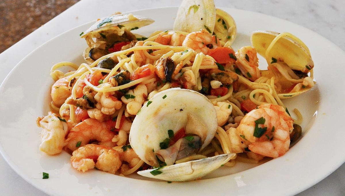 Rio Mar: Pasta mit Meeresfrüchten