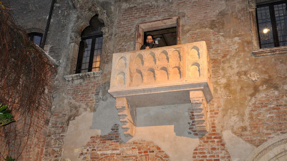 Früher einmal Sarkophag, seit 1930 der bekannteste Balkon Italiens Foto WR