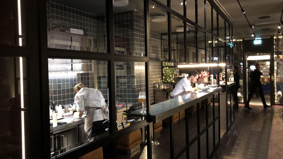 Die offene Küche. Foto HvF