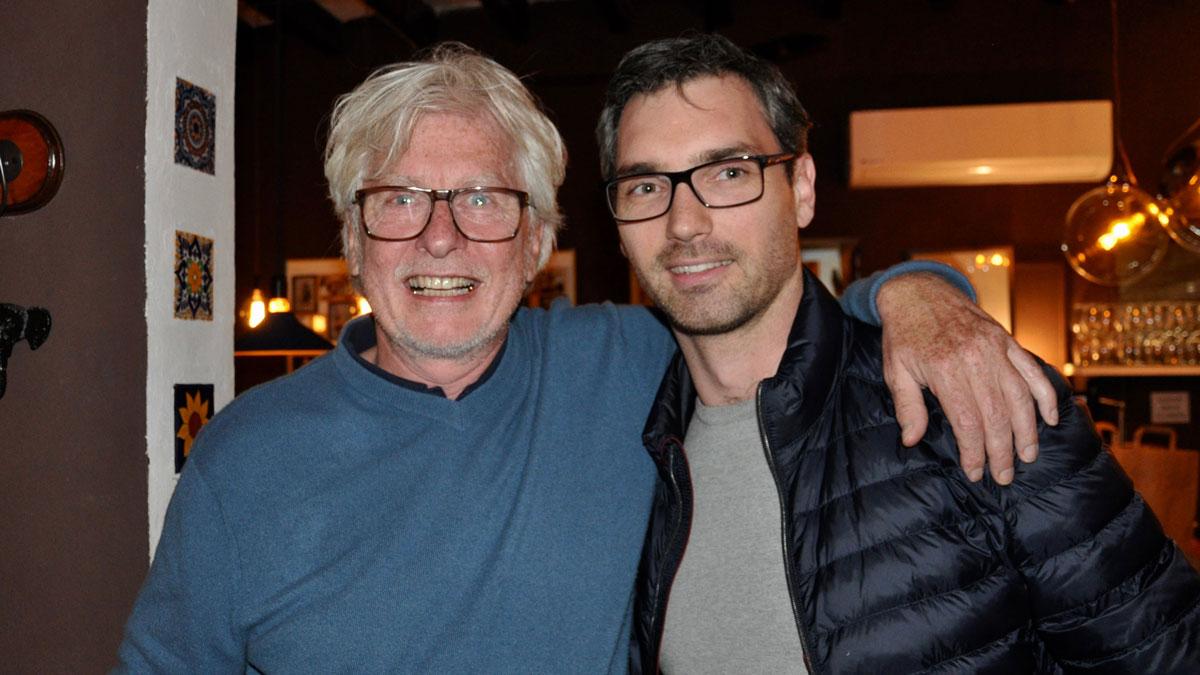 Nino und Helmut von Finck in den ersten Minuten seines 60. Lebensjahres, Foto WR