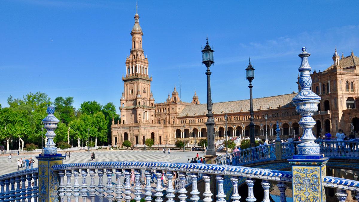 Plaza de España: Von 1924 bis 1928 erbaut. Foto WR