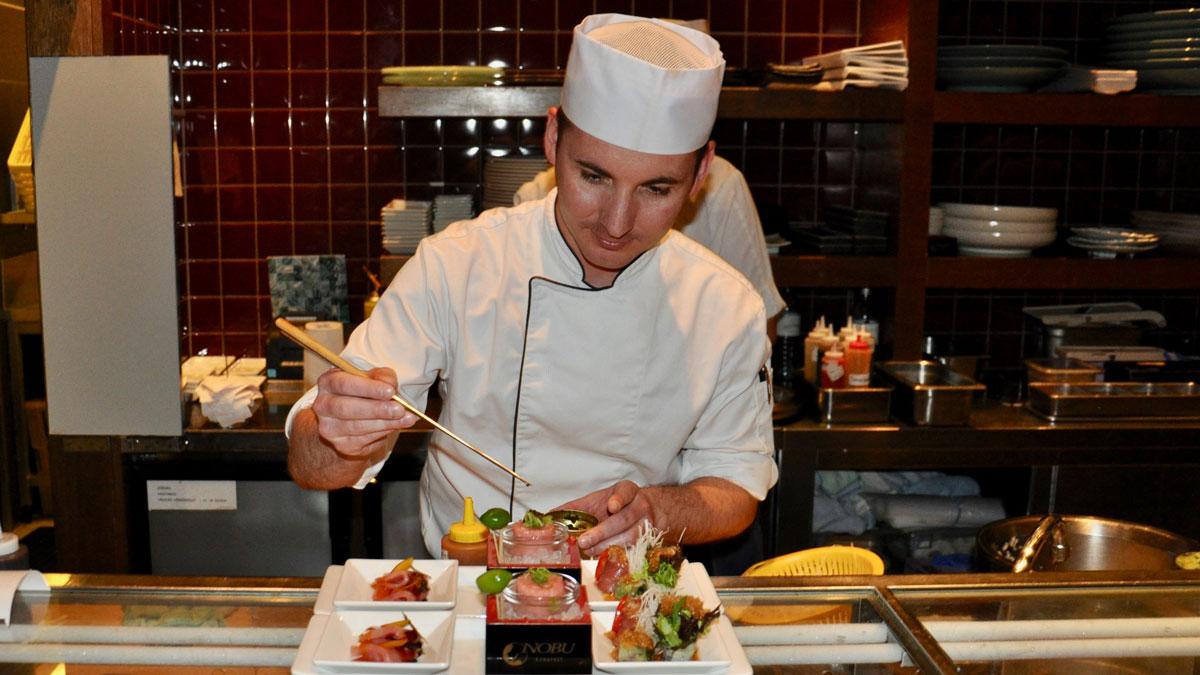 Corvínus, Nobu: Sushi Head Chef Tamás Kurunczi. Foto WR