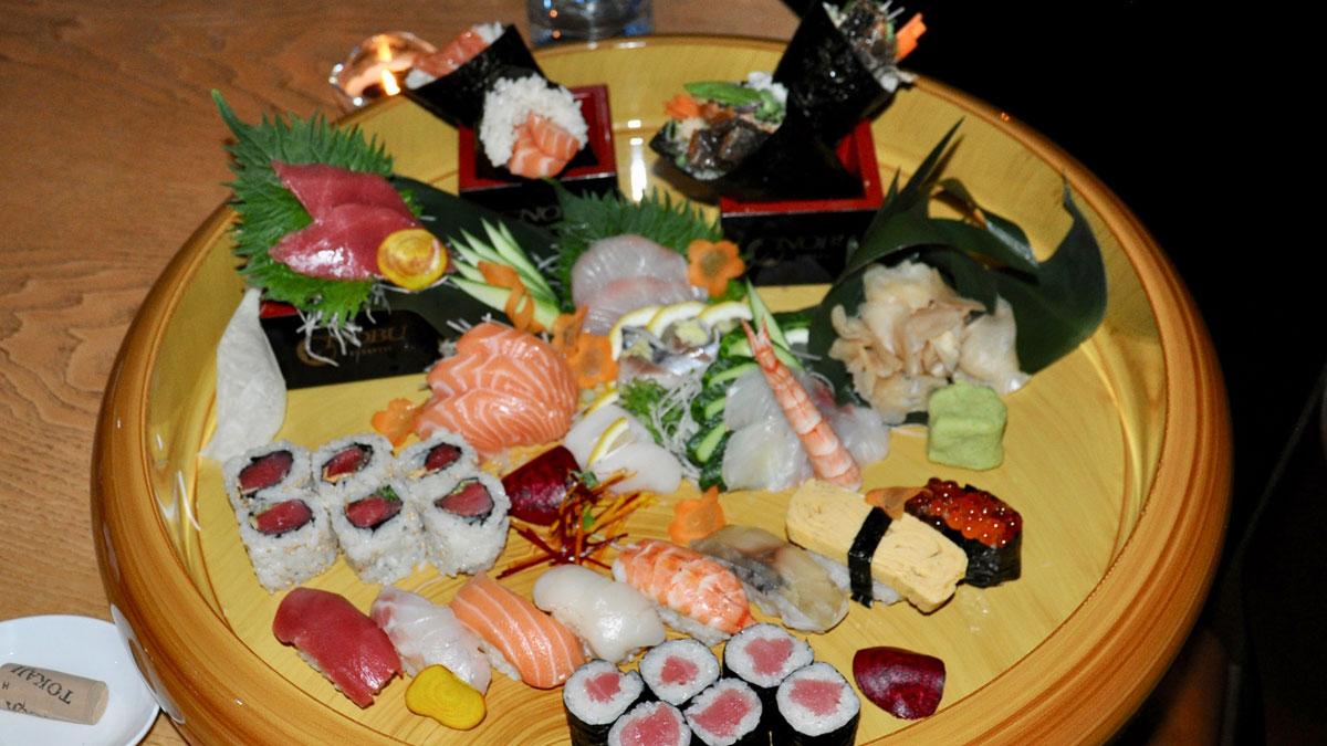 Corvínus, Nobu: Sushi, Sashimi, Nigiri – sehen nicht nur gut aus, schmecken köstlich. Foto Nobu