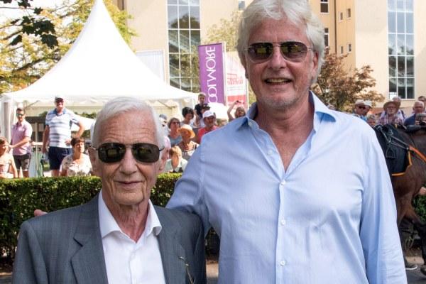 Jockey Legende Lester Piggott und Helmut von Finck im Führring. Foto Klaus Schultes