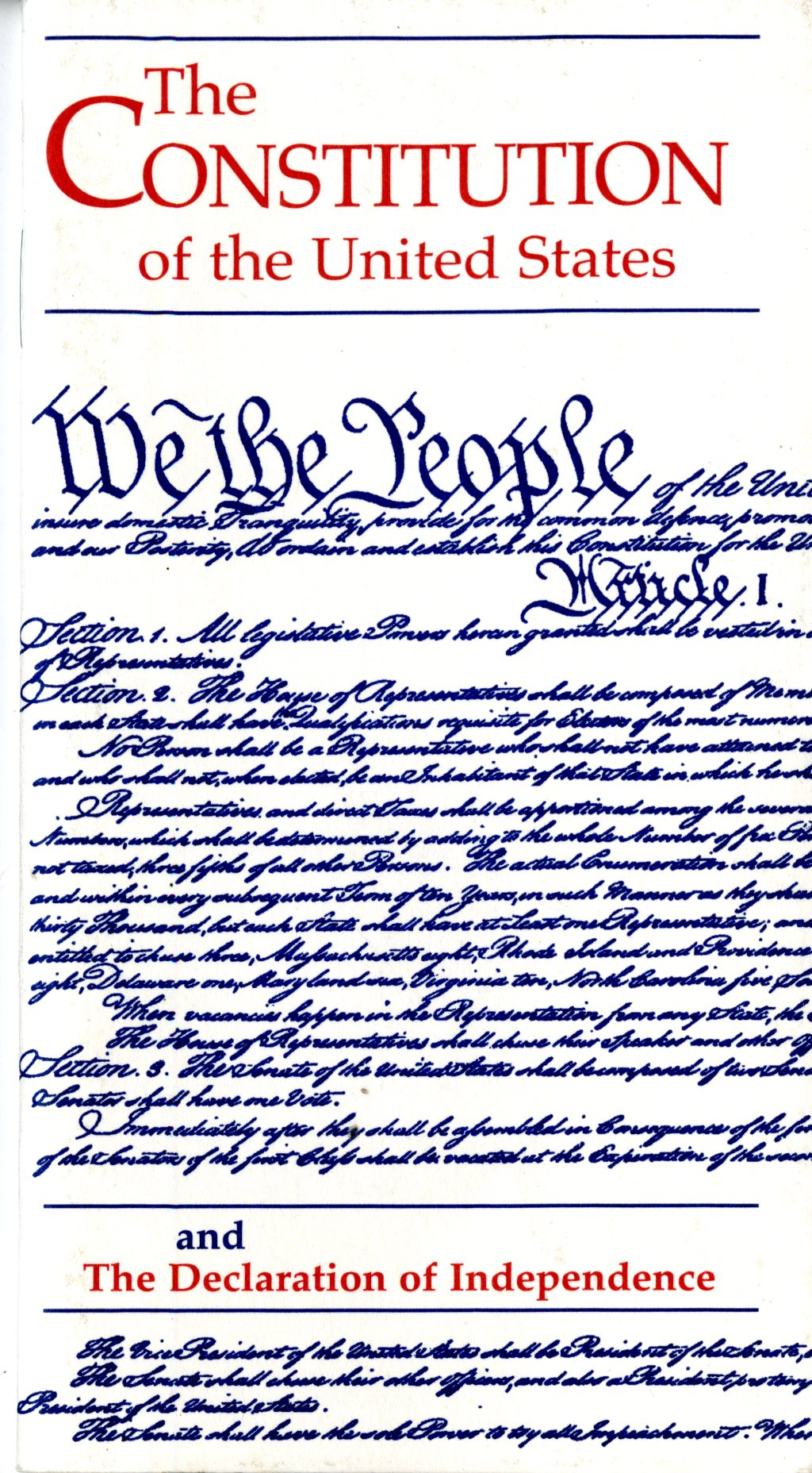 The Constitution Of The United States And The Declaration