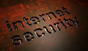 Safety concept: Internet Security on digital screen background