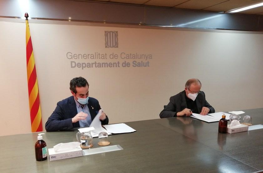 Salut i PIMEC signen un conveni per fer tests d'antígens ràpids a les empreses i polígons de Catalunya