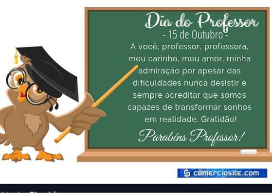 MENSAGEM 15 DE OUTUBRO DIA DO PROFESSOR