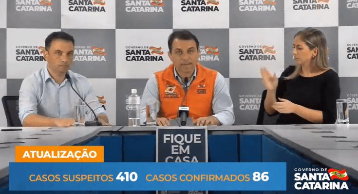 AO VIVO 23/ 03 - AO VIVO Coletiva de Imprensa #Coronavirus (COVID-19) Governo de Santa Catarina