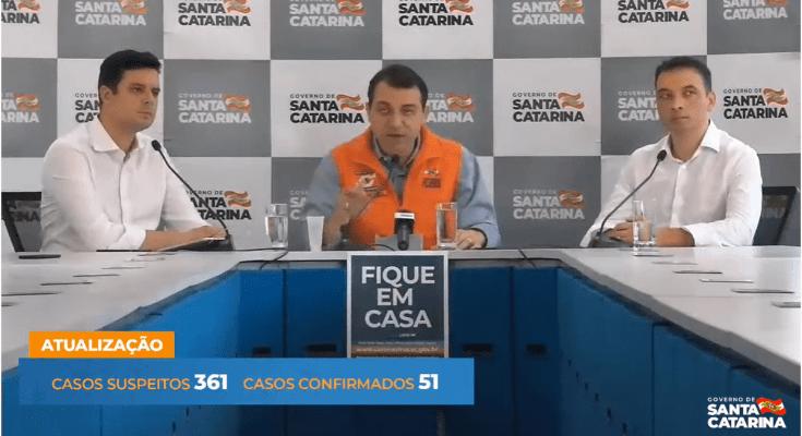 AO VIVO Coletiva de Imprensa 21/03 - Medidas de enfrentamento em Santa Catarina