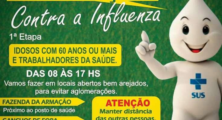 Governador Celso Ramos 22ª Campanha Nacional de Vacinação contra a Influenza!