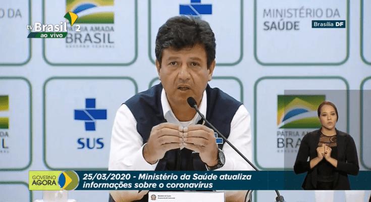 25/03 - AO VIVO Ministério da Saúde atualiza informações sobre o coronavírus