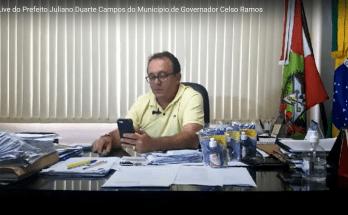 12/05 - Live do Prefeito Juliano Duarte Campos do Município de Governador Celso Ramos
