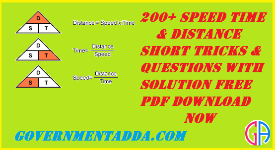 200+ Speed Time & Distance Questions With Solution Free PDF