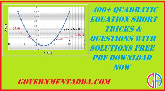 400+ Quadratic Equation Questions PDF Free Download Now
