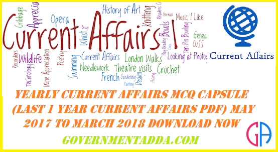 10000+ Yearly Current Affairs MCQ Capsule (Last 1 year Current