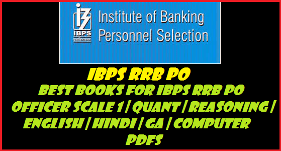Best Books For IBPS RRB PO Officer Scale 1   Quant