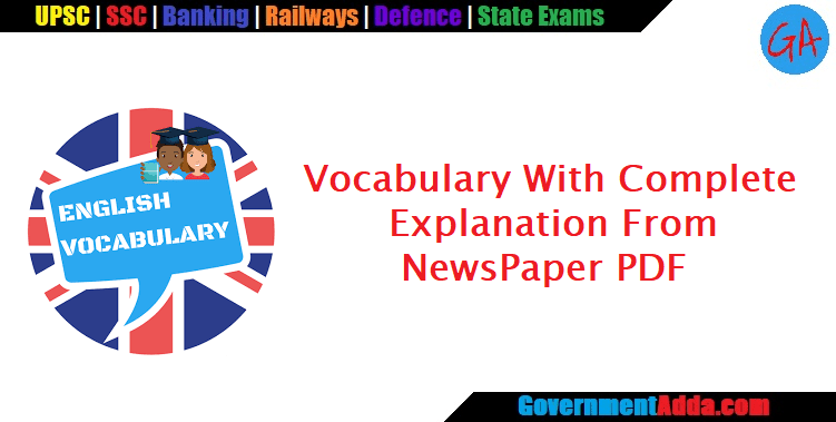 1500+ Vocabulary With Complete Explanation From The Hindu