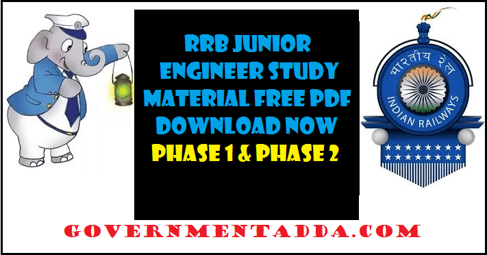 RRB JE Study Material Book PDF – Railway Junior Engineer All Ebooks
