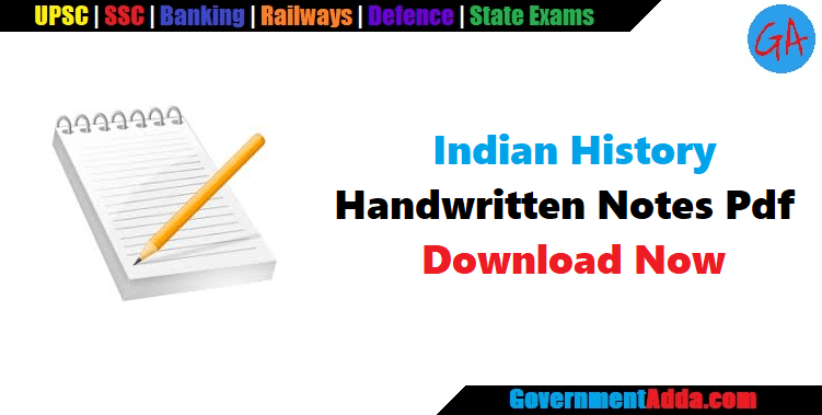 Indian History Handwritten Notes Pdf for Railway & SSC – Download